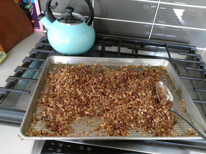 No Cereal in Cupboard? Granola from Scratch.. Plus- Our Tomato seeds have finally sprouted!