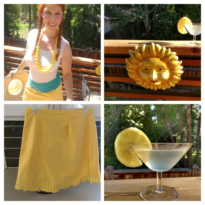 I MADE A SUMMER TANK TOP (AND A YELLOW SKIRTTOO!)
