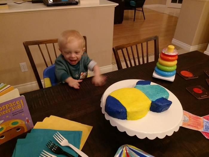 My Rocket Ship Birthday Cake(Celebrating my Son's FIRSTBIRTHDAY!)