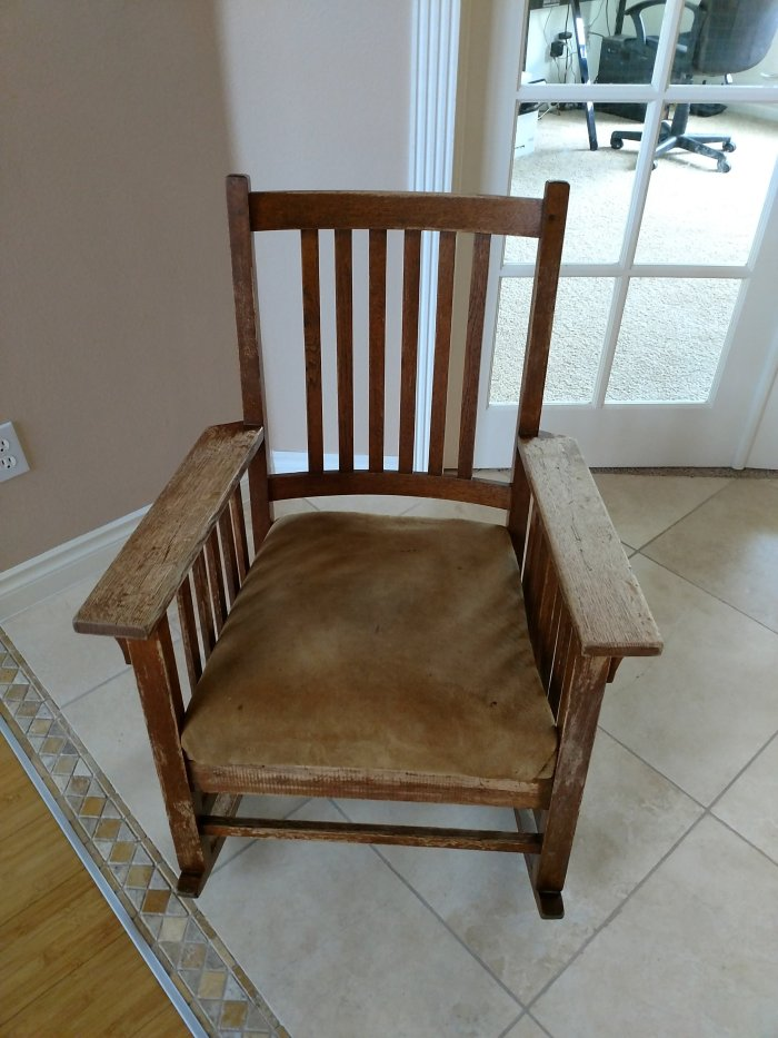 My White on White Rocking Chair Renovation