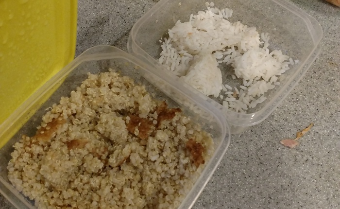 What to do with OLD LEFTOVERRICE/QUINOA?