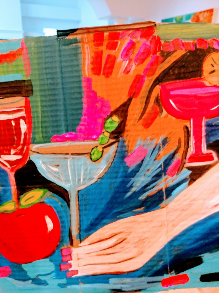"""I'd like a Martini"". My painting today."