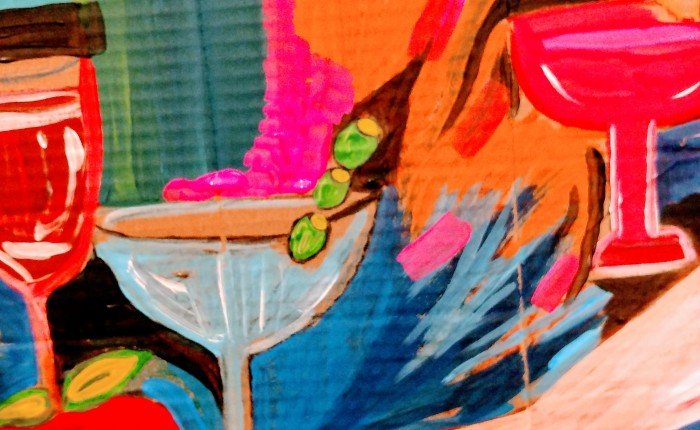 """""""I'd like a Martini"""". My paintingtoday."""