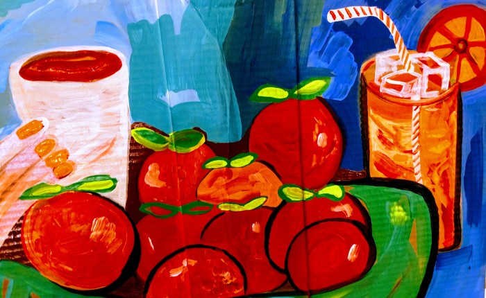 Fresh Squeezed Orange Juice. (Welcome to my painting blog :)