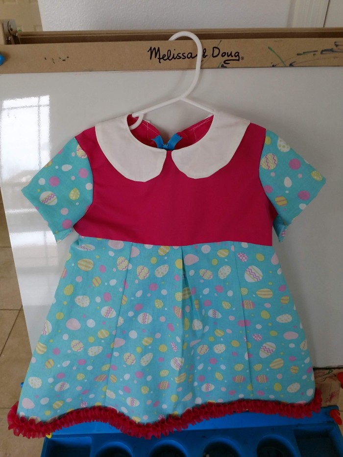 2 Homemade Easter Dresses, SAME PATTERN. (sewing steps bypictures)